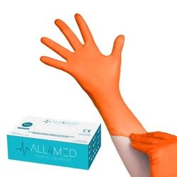 All4med jednorazowe rękawice diagnostyczne nitrylowe pomarańczowe xl