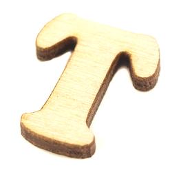 Drewniana literka do rękodzieła - T - T