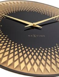 Zegar ścienny sahara 43 cm nextime kolor miedziany 8186 co