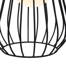 Lampa stołowa żarówka w klatce, skórzany uchwyt indiana maytoni modern mod544tl-01b