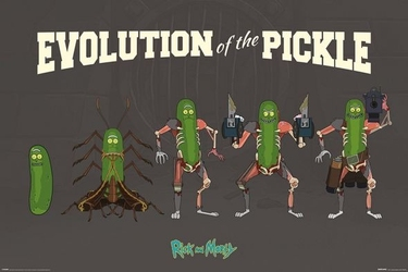 Rick and morty pickle rick - plakat z serialu
