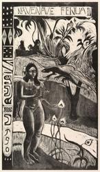 Delightful land, paul gauguin - plakat