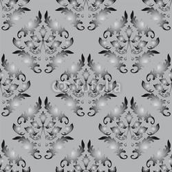 Obraz na płótnie canvas dwuczęściowy dyptyk bezszwowe tło szaro-czarne