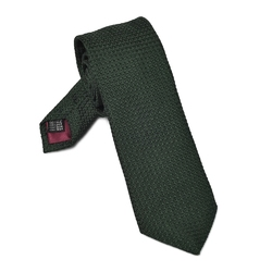 Elegancki zielony krawat van thorn z grenadyny garza grossa długi