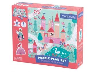 KSIĘŻNICZKA puzzle zestaw z figurkami