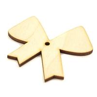 Drewniana dekoracja kokardka 6x5,5 cm - kokardka