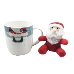 Kubek porcelanowy świąteczny dla dzieci  na prezent altom design mikołaj z maskotką 300 ml