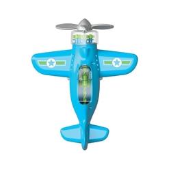 Sprytny samolot playviators fat brain toys - niebieski