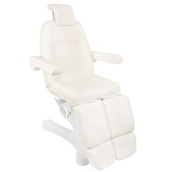 Fotel kosmetyczny elektr. a-207c pedi whiteivory 5 silników