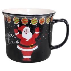 Kubek świąteczny  na boże narodzenie porcelana altom design santa claus czarny 350 ml