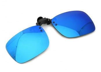 Nakładki polaryzacyjne lustrzane na okulary korekcyjne - niebieskie
