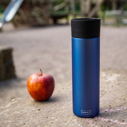 Niebieski kubek termiczny, stalowy, 0,5 litra coffee-to-go lurch lu-00240985