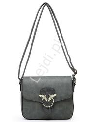 Designerska torebka listonoszka z muchami 556