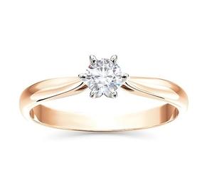 Pierścionek z brylantem certyfikowanym 0,40ct fvvs1 z różowego i białego złota ap-6640pb