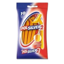 Polsilver, jednoczęściowa maszynka do golenia dla mężczyzn, 10 sztuk