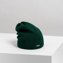 Zielona czapka damska zimowa cz27 brodrene