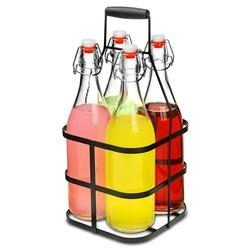 butelki do lemoniady 1 l 4 szt. + koszyk