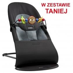 Babybjorn - leżaczek balance soft - czarny  ciemnoszary + zabawka
