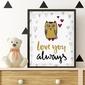 Love you always - plakat w ramie , wymiary - 20cm x 30cm, kolor ramki - czarny