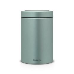 Brabantia - pojemnik kuchenny do szuflady z okienkiem w pokrywie – 1.4l - metaliczny miętowy - miętowy