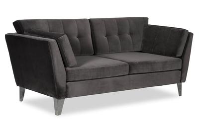 Sofa irisar 2-osobowa welurowa deluxe - welur łatwozmywalny indigo