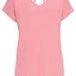 Shirt z dekoltem z tyłu bonprix dymny różowy