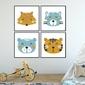 Komplet czterech plakatów - colorfriends , wymiary - 50cm x 50cm 4 sztuki, kolor ramki - biały