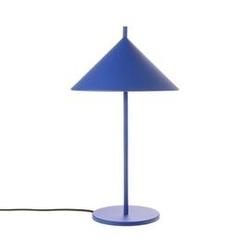 Hk living :: lampa stołowa metalowa triangle niebieska