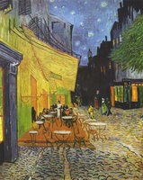 Reprodukcja cafe terrace at night, vincent van gogh