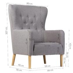 Fotel do salonu sali new skandynawski