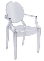 Krzesło profilowane z poliwęglanu - przezroczyste - nadia