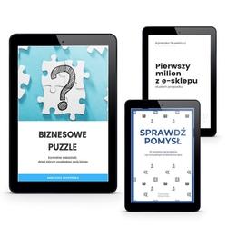 pakiet 3 ebooki biznesowe: biznesowe puzzle + pierwszy milion z e-sklepu + sprawdź pomysł
