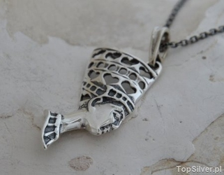 Nefretete - srebrny wisior
