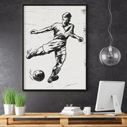 Football - plakat designerski , wymiary - 20cm x 30cm, ramka - czarna
