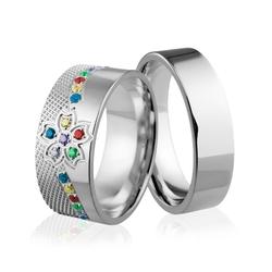 Obrączki srebrne - wzór ag-248