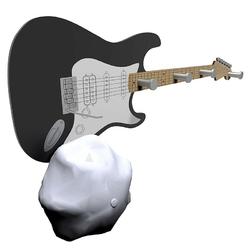 Wieszak ścienny guitar calleadesign czarny 13-006-5