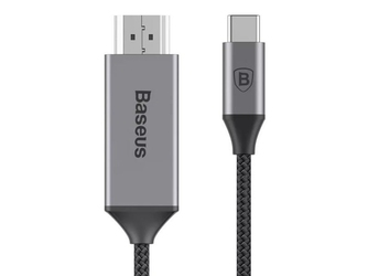 Baseus kabel adapter usb-c type c na hdmi 4k hd video 1,8m space gray