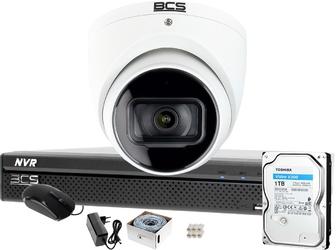 Zestaw monitoringu do samodzielnego montażu bcs-nvr0401x5me-ii kamera starlight bcs-dmip1401ir-e-v 1tb system ip