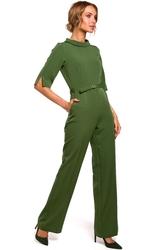 Elegancki kombinezon ze stójką zielony m463