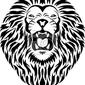 Naklejka tatuaż głowa lwa