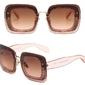Okulary przeciwsłoneczne różowe brokat - różowe