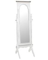 Białe lustro stojące ravenna w prowansalskim stylu