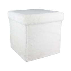 Kwadratowa pufa składana ze schowkiem fury vels