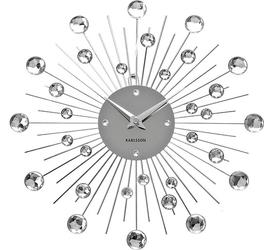 Zegar ścienny sunburst srebrny