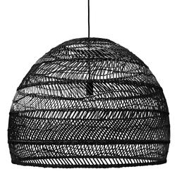 HK Living :: Lampa wisząca wiklinowa czarna Ø80cm - L