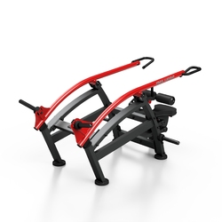Maszyna na wolny ciężar do pompek rzymskich w pozycji siedzącej mf-u009 - marbo sport - czarny  antracyt metalic