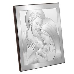 Posrebrzany obrazek święta rodzina 16x16 cm z grawerem