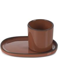 Filiżanka do espresso porcelanowa 80 ml caractere revol cynamonowa rv-652690-4