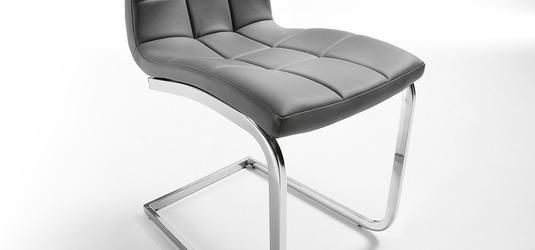 Outlet - krzesło z eko-skóry walker szare