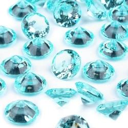 Dekoracyjne kryształki 10 mm - błękitne - BŁĘ